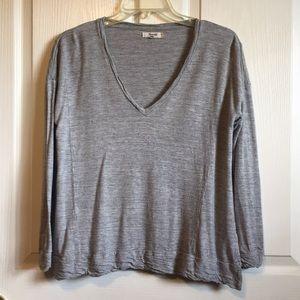 Madewell Sz S Gray Long Sleeve Shirt